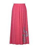 Летняя женская юбка из практичного воздухопроницаемого материала больших размеров на лето.