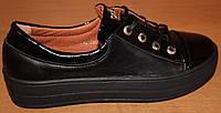 Туфли женские кожаные на шнурках, кожаные туфли женские от производителя модель ВБ1554