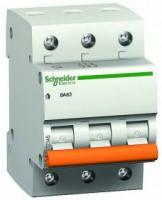 Автоматический выключатель Schneider Electric ВА63 3P 25А С