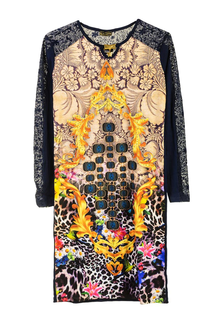 Нарядное платье с цветами