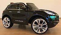 Детский электромобиль Porshe M 3289 EBLRS-2 Порше с кожаным сиденьем, автопокраска, чёрный