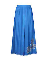 Расклешенная женская юбка в пол для пышных форм из легкой ткани на лето. Размеры от 46 по 64.