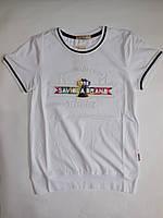 Турецкая белая футболка для мальчиков BANAMAX от 140 до 176 см рост.