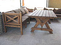 Стол Эмине 1,6м, деревянная мебель для дачи Эмине, фото 1