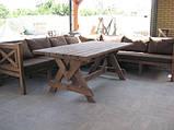 Стіл Еміне 2,2 м, дерев'яні меблі для дачі Еміне, фото 3
