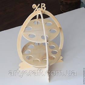 Деревянная пасхальная подставка для яиц 40х25 см