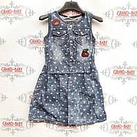 Джинсовое платья на девочку .Польша