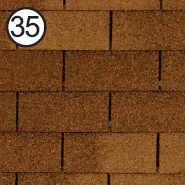 ROOFSHIELD Фемили Американ 35 (коричневый)