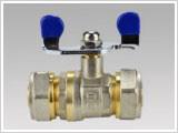 Кран WING діаметр 26х26 сталева метелик,сталева куля для перекриття води у системах.