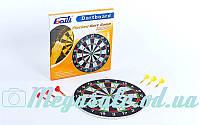 Мишень для игры в дартс из флока/дартс Baili 15115: диаметр 37см, 6 дротиков