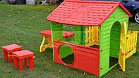 Супер садовый домик, с плотиком, столиком и 2-мя стульчиками