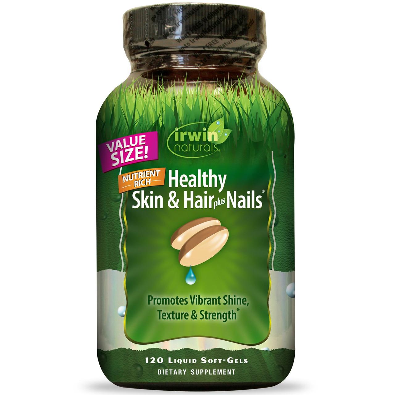 Irwin Naturals, Здоровая кожа и волосы плюс ногти, 120 жидких гелевых капсул (2 месяца)