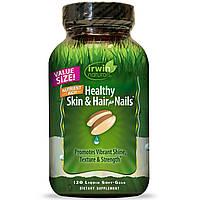Irwin Naturals, Здоровая кожа и волосы плюс ногти, 120 жидких гелевых капсул (2 месяца), фото 1