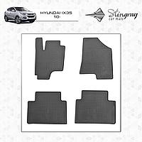 Коврики резиновые в салон Hyundai IX35 c 2010 (4шт) Stingray