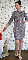 """Женское платье из штапеля с орнаментом  """"Сдержанность"""""""