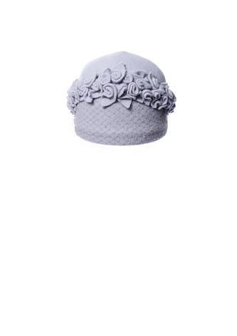 Роскошная шерстяная шапочка с аппликацией ручной роботы, фото 2