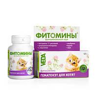 Витамины Фитомины ГематоКэт для котят №100 Веда