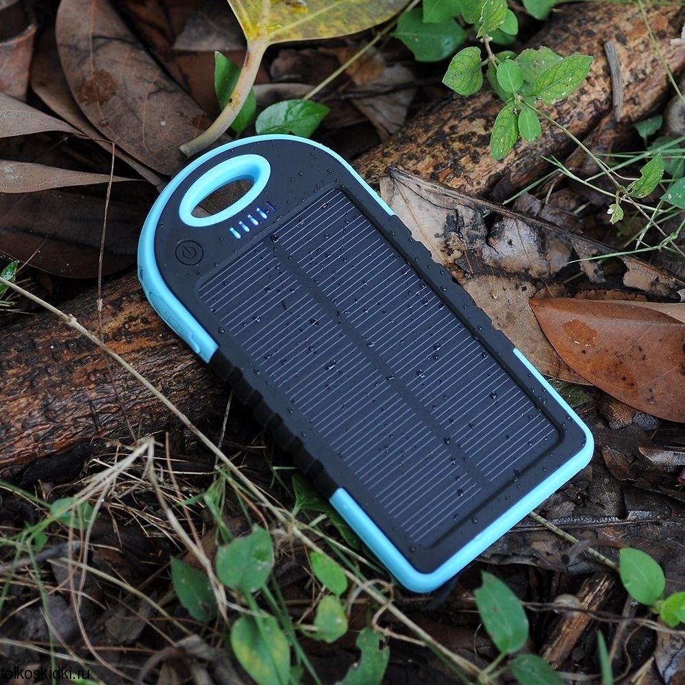 Солнечная батарея UKC Power bank solar 20700 mAh