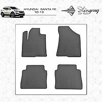 Коврики резиновые в салон Hyundai Santa Fe c 2013 (4шт) Stingray