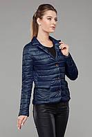 Синяя демисезонная куртка с утеплителем