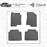 Коврики резиновые в салон Hyundai Sonata NF c 2005 (4шт) Stingray