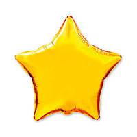 Фольгированные воздушные шары FLEXMETAL Испания, модель 302500O, форма:звезда золотая мини без рисунка, 9 дюйм