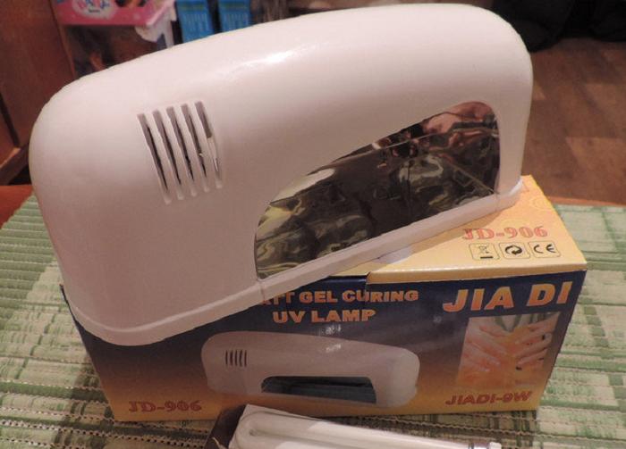 Ультрафиолетовая УФ (UF) индукционная лампа 9 Вт для сушки геля. Лампа для маникюра.