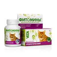 Витамины Фитомины с урологичеким комплексом для кошек №100 Веда