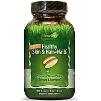Irwin Naturals, Здоровая кожа и волосы плюс ногти, 60 жидких гелевых капсул, фото 1