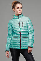Куртка приталенного фасона с контрастным кантом