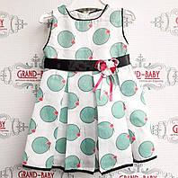 Платья нарядное на девочку в горохи .Турция