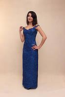 Выпускное темно-синее платье (Т-2017-04)