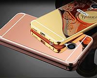 Металлический зеркальный чехол бампер для Meizu M3 Note (4 цвета в наличии)