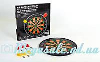 Мишень для игры в дартс магнитная/дартс магнитный Baili 15017: диаметр 35см, 6 дротиков