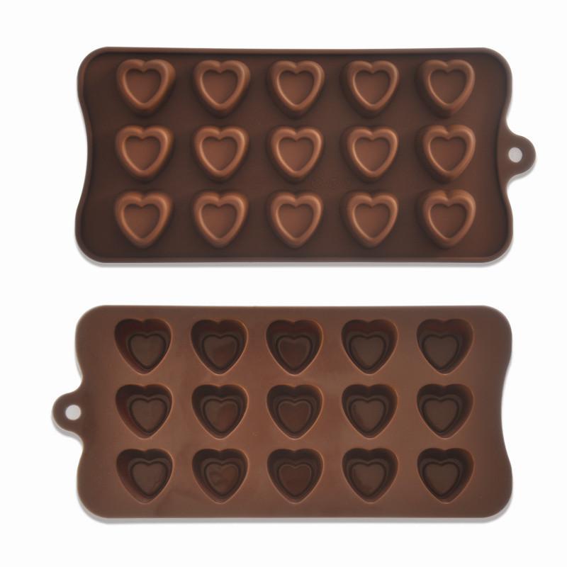 Форма для шоколада Сердечко с отттиском