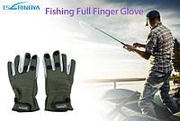 Перчатки для рыбалки/охоты материал неопрен с антискользящим покрытием ладони, фото 1