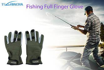 Рукавички для риболовлі/полювання матеріал неопрен з антиковзаючим покриттям долоні