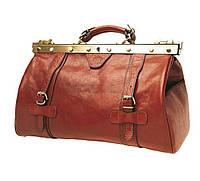 Саквояж мужской кожаный Катана рыжий 8253