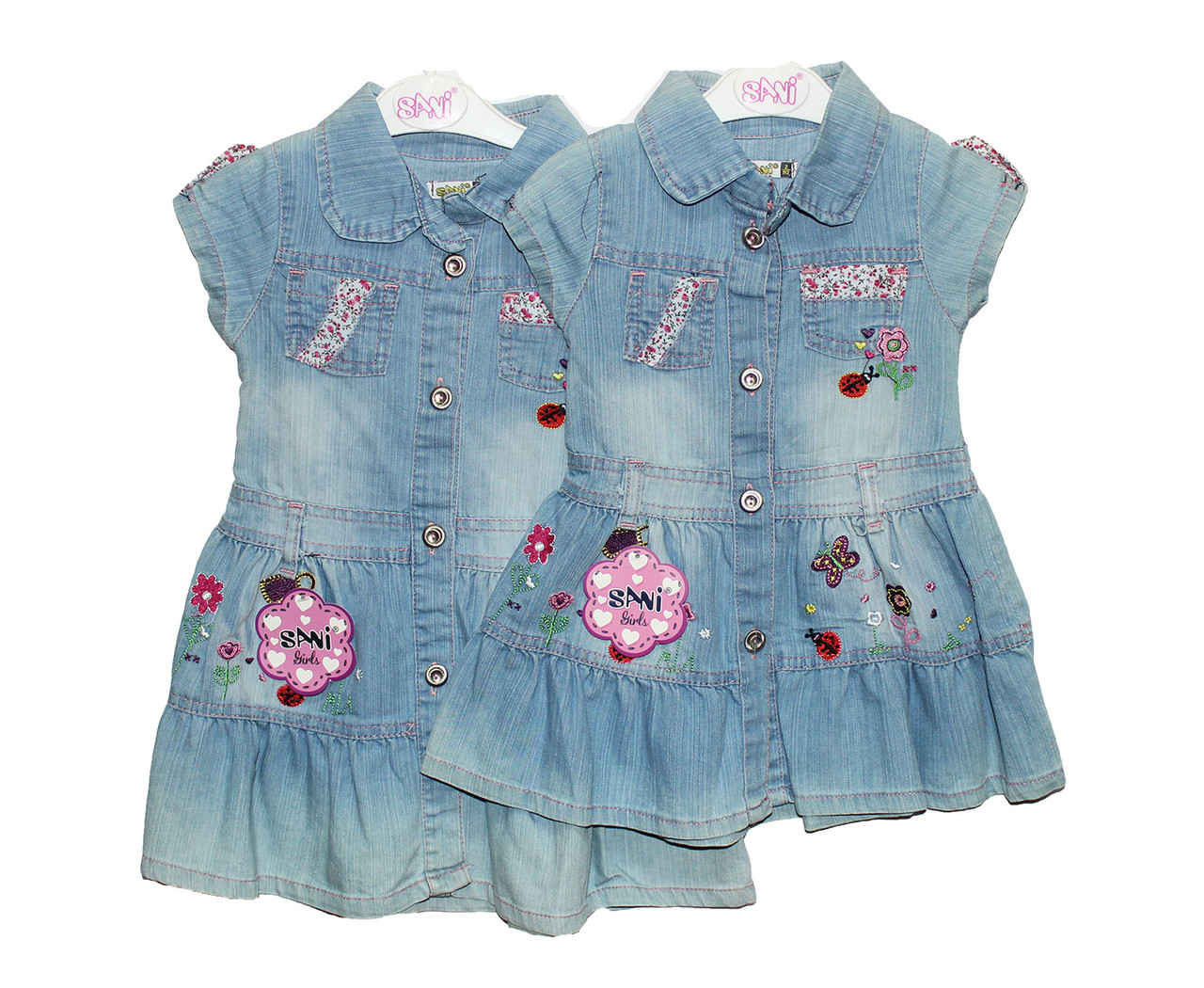 Платья детское джинсовое на лето Sani 3976