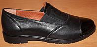 Туфли женские кожаные на резинке, кожаные туфли женские от производителя модель ВБ1573
