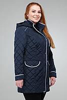 Синяя курточка прямого кроя