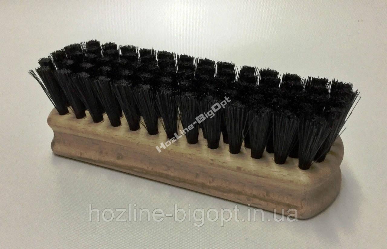 Щетка для обуви ИСКУССТВЕННЫЙ ЧЁРНЫЙ ВОРС PVC 12 см