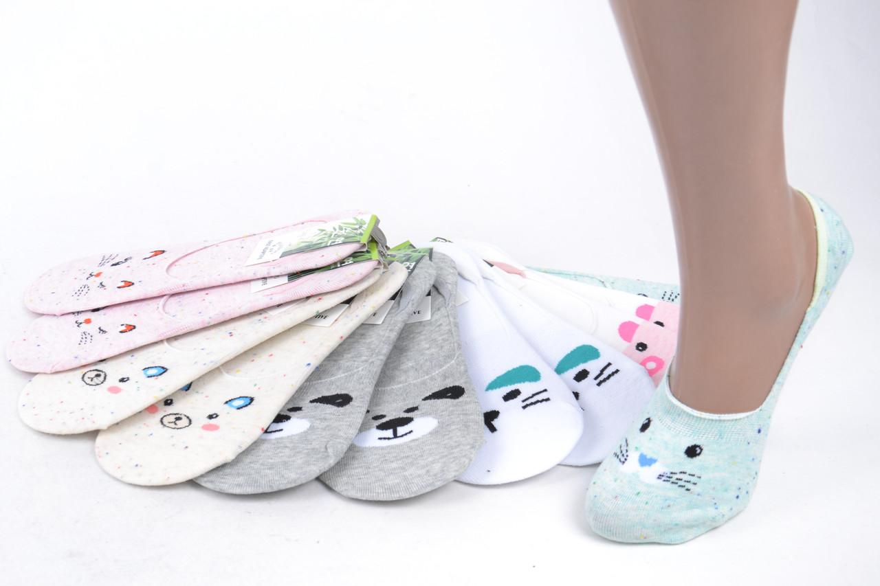 Женские носки-следки БАМБУКОВЫЕ с узором (SL801/11/600) | 600 пар
