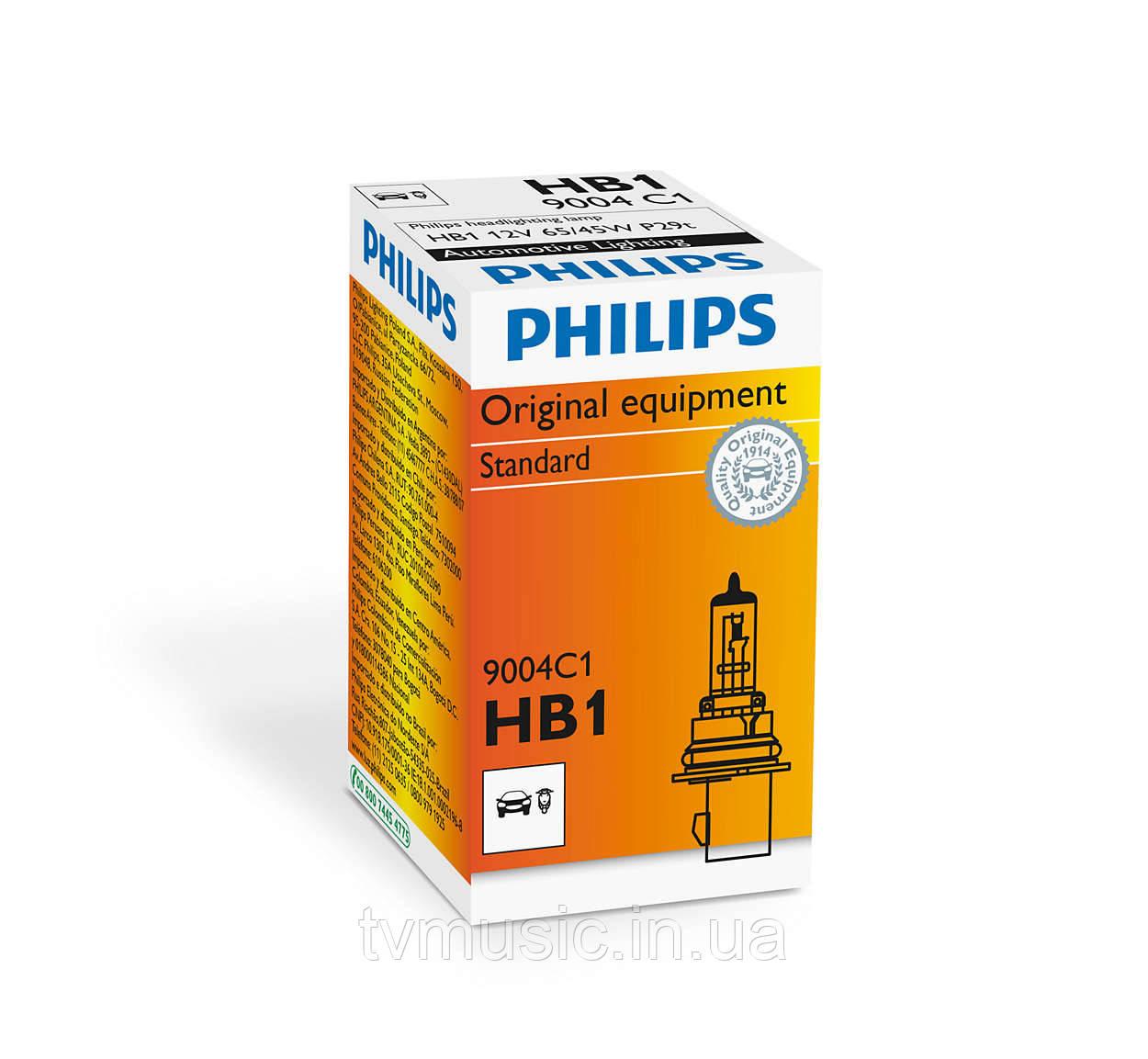 Галогенная лампа Philips Standard HB1 (9004) 12V 65/45W (9004C1)
