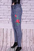 Джинсы женские американка с вышивкой голубые IT'S (код 591)