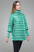 Бирюзовая женская курточка