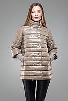 Утепленная куртка в пастельном тоне