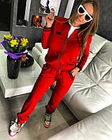 """Красный костюм """"G"""". Трикотаж на бархатном велюре"""