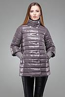 Однотонная утепленная куртка-трапеция