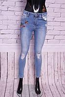 Джинсы женские американка Турция, с вышивкой (38.40.42.44 размер )
